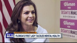 Florida First Lady Casey DeSantis takes on mental health issues
