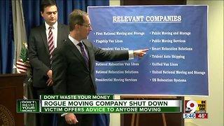 Rogue moving company shut down