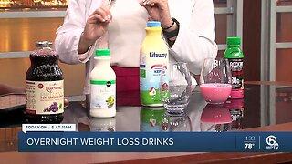 Overnight weight loss drinks