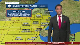 Strong storm threat continues for Metro Detroit