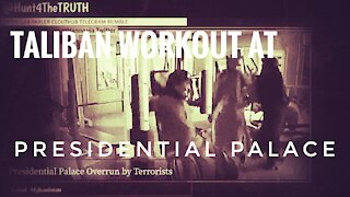 TALIBAN STORM AFGHANISTAN PRESIDENTIAL PALACE FITNESS WORKOUT GYM