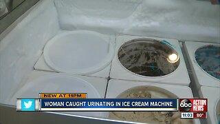 Woman caught urinating in ice cream machine