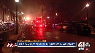 Fire tears through 2 stories of Westport building Wednesday night