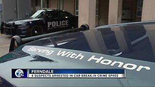 4 suspects arrested in car break-in crime spree