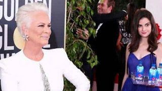 Fiji Water Girl BLASTED By Jamie Lee Curtis For Photobombing During 2019 Golden Globes!