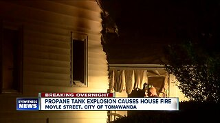 Propane tank explosion causes house fire