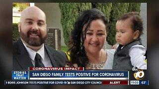 San Diego family tests positive for coronavirus