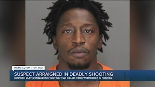 Suspect arraigned in deadly shooting