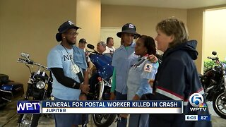 Funeral held for postal worker killed in crash