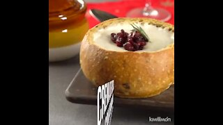 Cheese Cream with Blueberries