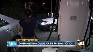 Governor Newsom calls for California gas price investigation