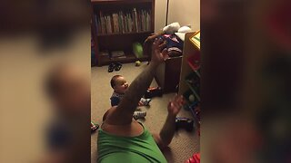 Cute Baby Laughs at Silliest Thing!