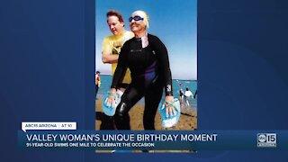 Valley retiree celebrates 91st birthday with one-mile swim