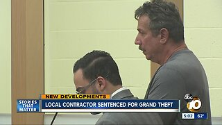 Local contractor sentenced for grand theft