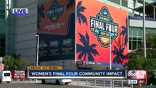 Women's Final Four community impact in Tampa