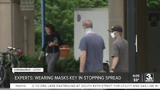 Experts: Wearing masks key in stopping spread