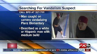 Search for Planz Elementary vandalism suspect