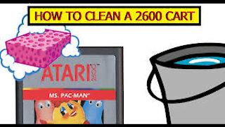 How to clean an Atari 2600 game