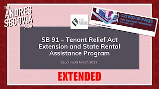 Federal Eviction Moratorium, CA Tenant Relief Act EXTENDED