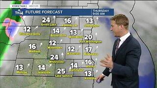 Scattered rain, snow showers expected for Thursday