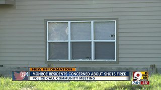 Monroe residents concerned about shots fired into home