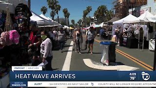 Heat wave sets in over San Diego County
