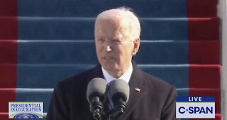 Joe Biden Gives Inauguration Speech, Listen Closely to What He Says