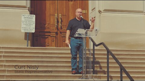 Representative Nisly Speaks at Medical Freedom Rally