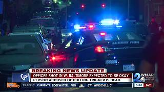 Officer wounded, suspect dead following shootout