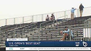 US Open: Fans find 'best seat' at Torrey Pines