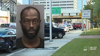 Robbery suspect leads officers on chase, crashes stolen car in downtown Tampa