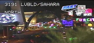 A look at the new arches in Downtown Las Vegas Blvd