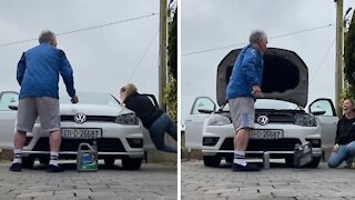 Woman pulls epic April Fool's Day prank on her dad
