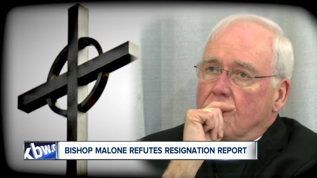 Bishop Malone refutes resignation report