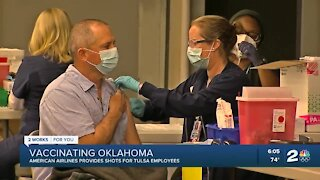 American Airlines provides COVID-19 vaccine for Tulsa employees