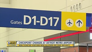 Non-ticketed visitors now allowed beyond security at Detroit Metro Airport