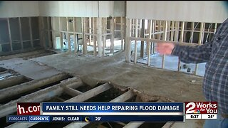 Family still needs help repairing flood damage