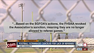 Lee County football scrimmages canceled due to ref pay