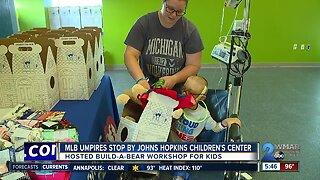 MLB umpires stop by Johns Hopkins Children's Center