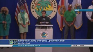 Palm Beach County officials give update on COVID-19 cases, vaccinations