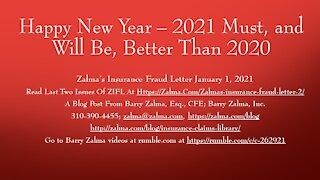 Zalma's Insurance Fraud Letter – January 1, 2021