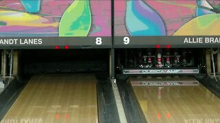 Bowling alleys left in the dark