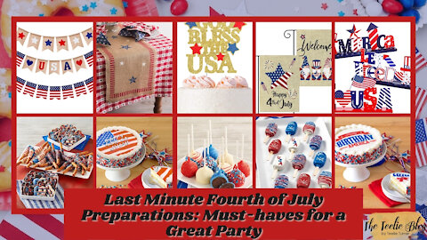 The Teelie Blog | Last Minute Fourth of July Preparations: Must-haves for a Great Party