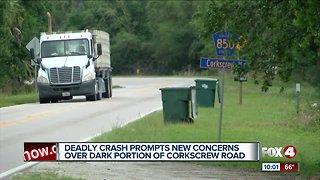 Deadly crash raises questions about safety on Corkscrew Road
