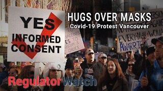 E341 - HUGS OVER MASKS   COVID-19 PROTEST   REGWATCH