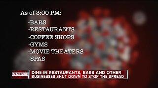 Gov. Whitmer to temporarily shut down bars, restaurants & gyms amid COVID-19 outbreak