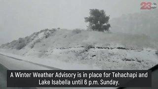 Snow in Tehachapi brings driving concerns