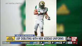 USF unveils high-tech football uniforms to keep players cooler