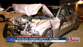 Douglas County deputy injured in crash Sundau