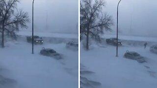 Crazy spring winter storm pummels Saskatchewan residents